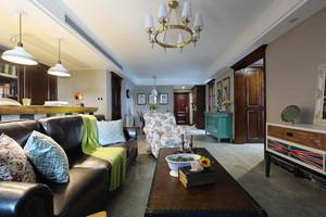 136平米复古美式风格两室两厅室内装修效果图赏析