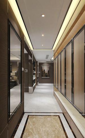 新中式风格大户型室内过道吊顶装修效果图