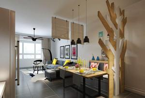 后现代风格小户型客厅隔断装修效果图