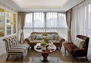 时尚混搭风格两居室客厅沙发设计装修效果图赏析