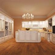 26平米简欧风格别墅室内整体厨房设计装修效果图