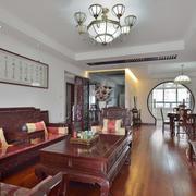 146平米中式风格客厅装修设计效果图赏析