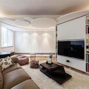 现代简约风格大户型室内客厅隔断墙装修效果图