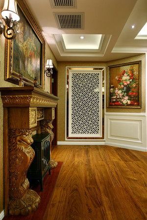 216平米美式混搭风格别墅室内装修效果图赏析