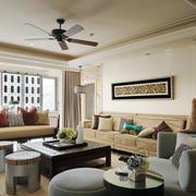 简约美式风格两居室客厅装修效果图赏析