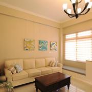50平米现代美式风格客厅飘窗装修效果图
