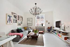 清新自然北欧风格客厅沙发装修效果图大全