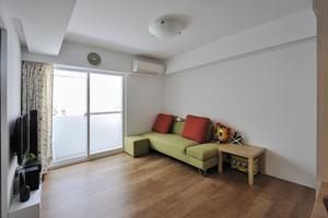 89平米日式风格简约温馨两室两厅室内装修效果图