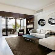 现代风格三居室客厅时尚沙发背景墙装修效果图