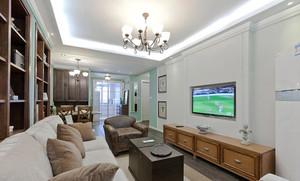 130平米现代简约美式风格两室两厅一厨一卫装修效果图
