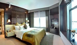30平米新中式风格卧室背景墙设计效果图赏析