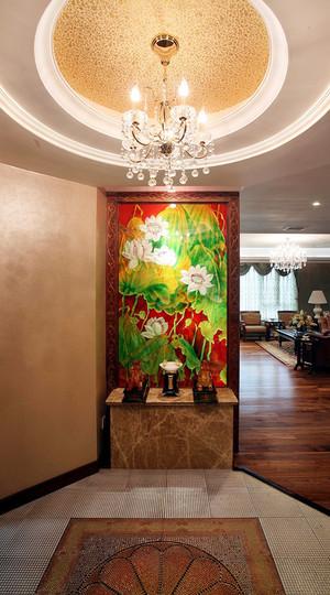东南亚风格大户型客厅玄关装修效果图鉴赏
