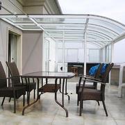 现代简约风格别墅室阳台设计装修效果图