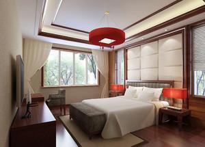 精致雅韵中式风格卧室吊顶装修效果图赏析