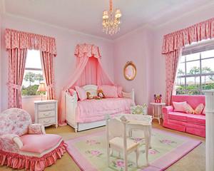 现代简约风格粉色儿童房间装修效果图赏析
