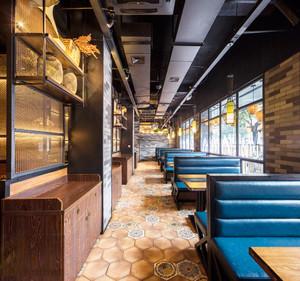 现代loft风格咖啡厅沙发装修效果图赏析
