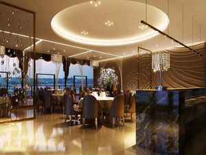 精致欧式风格西餐厅吊顶装修效果图