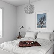 20平米北欧风格白色卧室装修效果图鉴赏