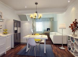 北欧风格小复式楼室内餐厅吊灯装修效果图赏析