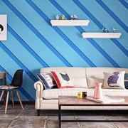 地中海风格小户型室内客厅沙发装修效果图