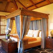 充满异域风情东南亚风格卧室吊顶装修效果图
