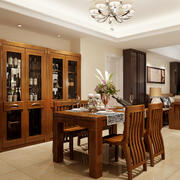 70平米古典欧式风格餐厅酒柜设计效果图鉴赏