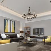现代风格三居室客厅沙发背景墙装修效果图赏析