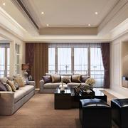 110平米现代风格客厅窗帘装修效果图赏析