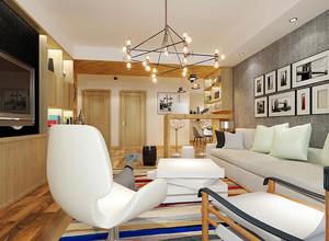 北欧风格小户型客厅照片墙装修效果图鉴赏
