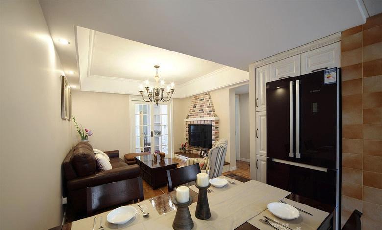 现代美式风格小户型室内装修效果图鉴赏