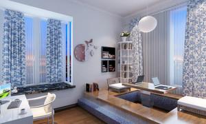 现代简约风格大户型室内榻榻米升降台装修效果图
