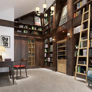 148平米美式风格书房装修效果图鉴赏