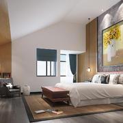 32平米现代简约风格阁楼卧室装修效果图鉴赏