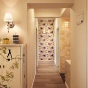 现代田园风格两居室室内过道装修效果图
