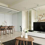 现代简约风格室内客厅电视背景墙装修效果图