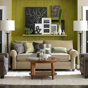 清新自然风格小户型客厅沙发装修效果图