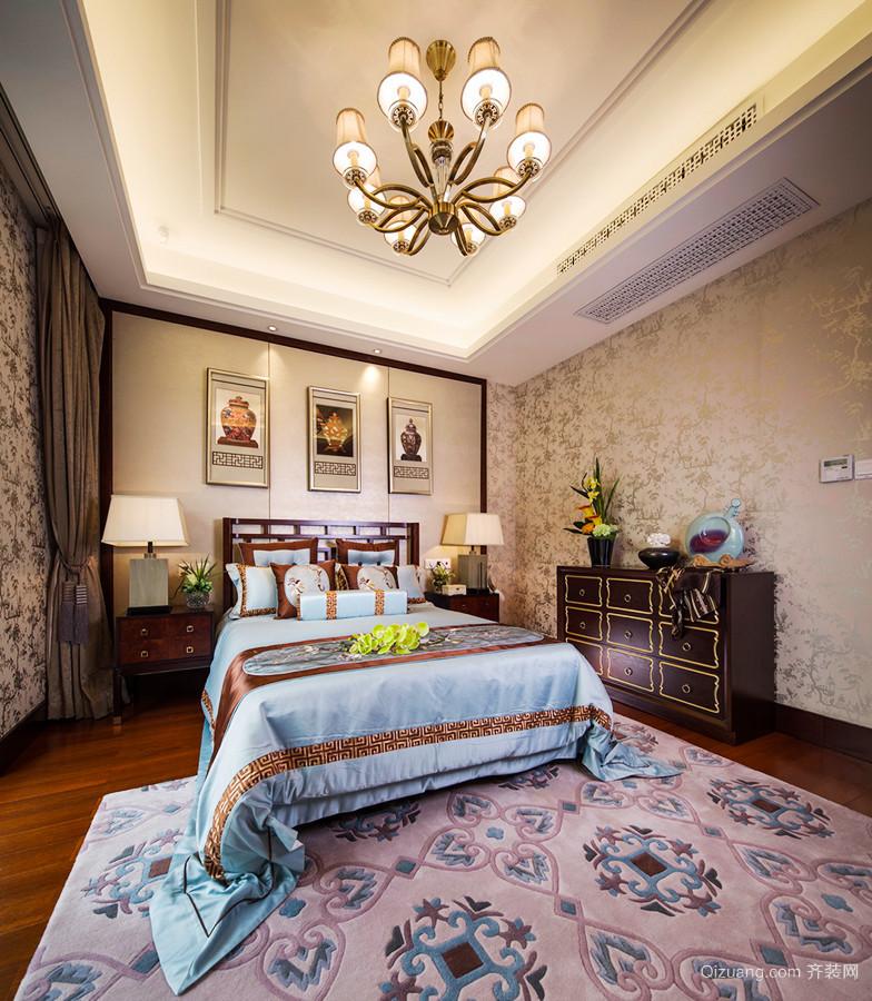 古典中式风格二层别墅室内装修效果图鉴赏