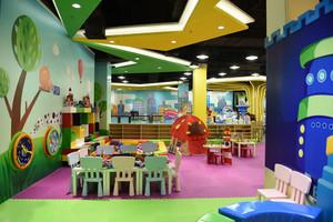 60平米现代风格创意幼儿园手绘墙装修效果图