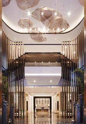 中式风格酒店大堂设计装修效果图
