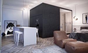 60平米后现代一居室小户型装修效果图赏析