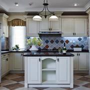14平米现代美式风格整体厨房装修效果图鉴赏