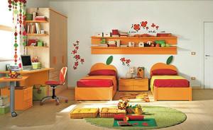 现代简约风格温馨明亮儿童房装修效果图案例