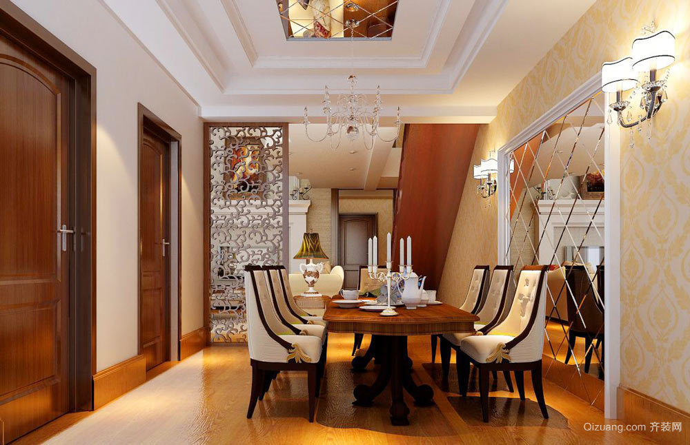189平米古典欧式风格跃层室内装修效果图赏析