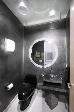 后现代风格冷色调卫生间装修效果图大全