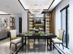 新中式风格大户型餐厅酒柜装修效果图赏析
