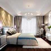 欧式风格大户型室内卧室吊灯装修效果图