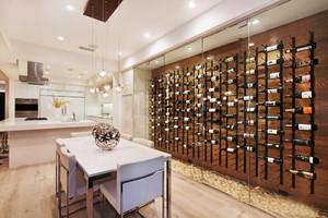 现代loft风格大户型室内酒柜装修效果图赏析