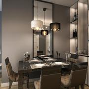 50平米后现代风格小户型餐厅酒柜设计效果图