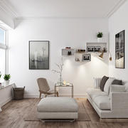 46平米现代简约风格客厅装修效果图鉴赏