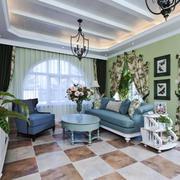 欧式田园风格小户型客厅吊顶装修效果图鉴赏